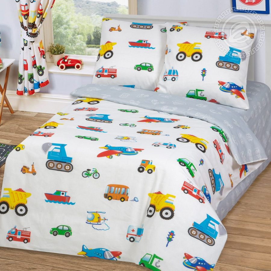 «Моторчик» постельное белье бязь 1.5 спальный