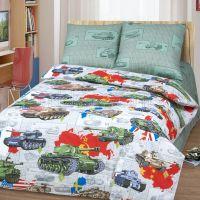 «Танки» постельное белье бязь 1.5 спальный