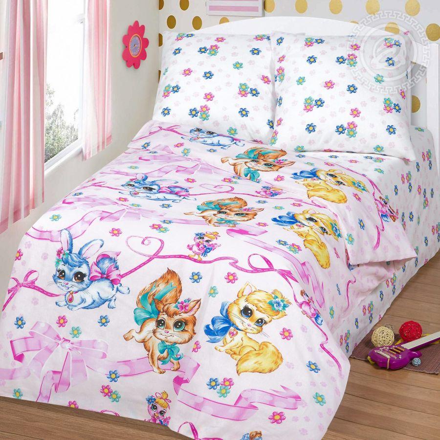 «Хвостики» постельное белье бязь 1.5 спальный