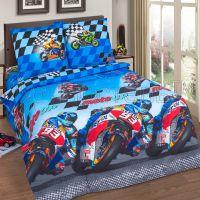 «Скорость» постельное белье поплин 1.5 спальный