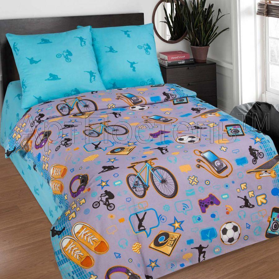 «Тинейджер» постельное белье поплин 1.5 спальный