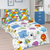 «Веселый зоопарк» постельное белье поплин 1.5 спальный