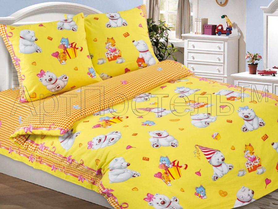 «День рождения» постельное белье поплин 1.5 спальный