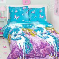 «Зазеркалье» постельное белье поплин 1.5 спальный