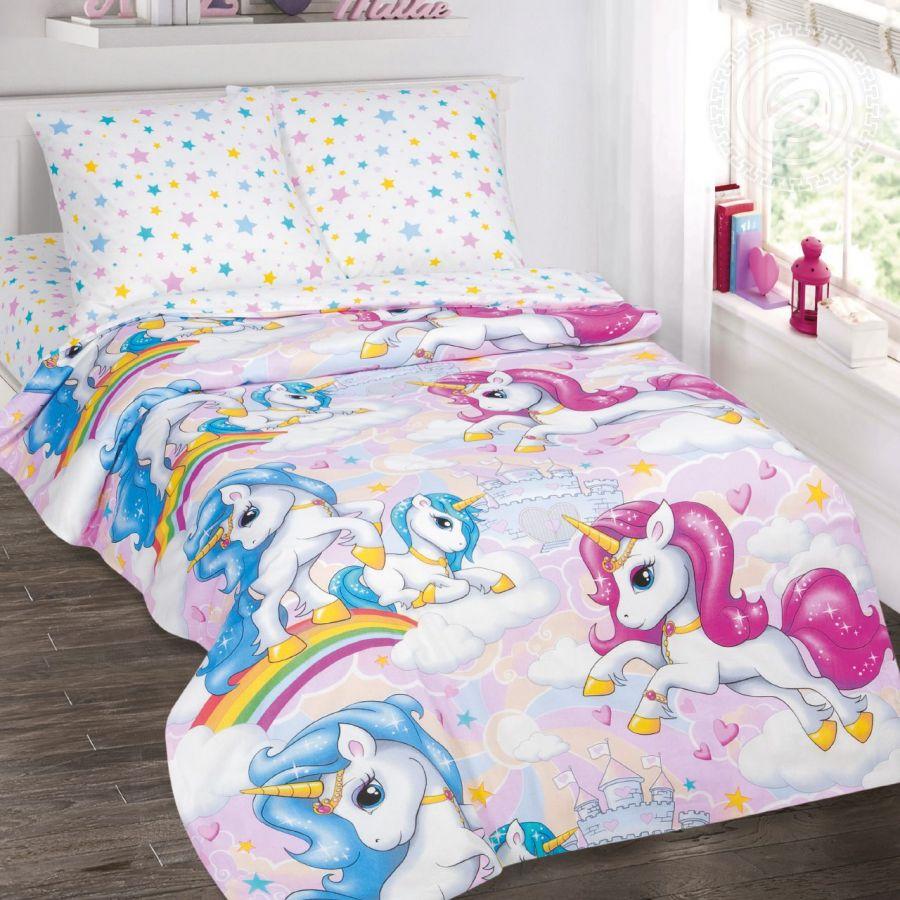 «Карусельки» постельное белье поплин 1.5 спальный