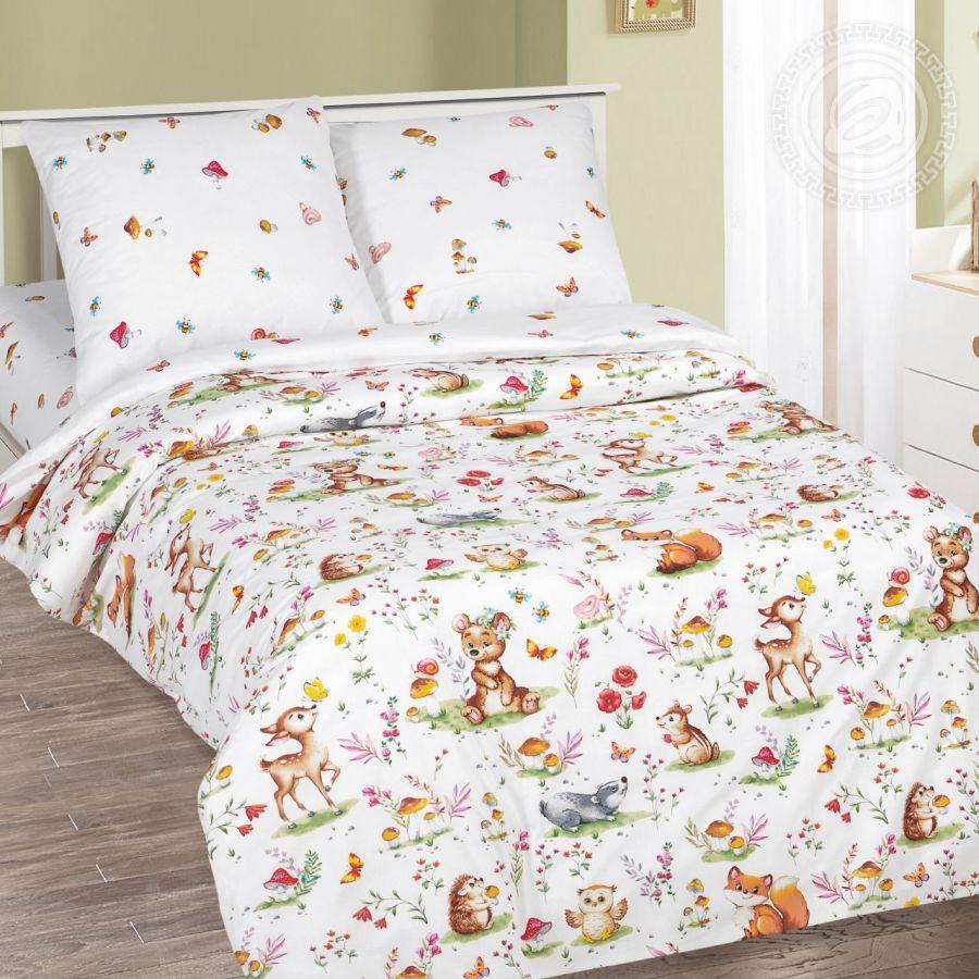 «Лесные друзья» постельное белье поплин 1.5 спальный
