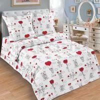 «Любовь-морковь» постельное белье поплин 1.5 спальный