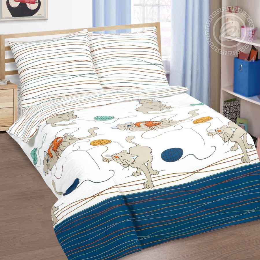 «Мягкие лапки» постельное белье поплин 1.5 спальный