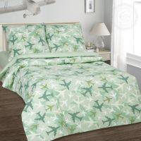 «Самолетики зеленые» постельное белье поплин 1.5 спальный