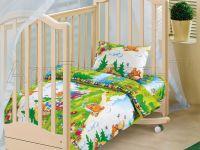 «В гостях у сказки» ясельное постельное белье бязь Детский