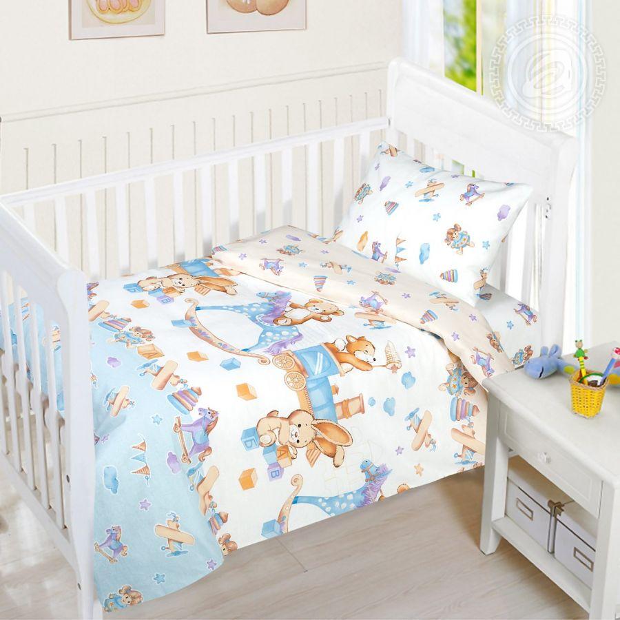 «Детство» ясельное постельное белье бязь Детский