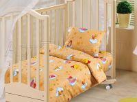 «Облачко желтое» ясельное постельное белье бязь Детский