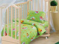 «Облачко зеленое» ясельное постельное белье бязь Детский