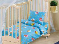 «Облачко синее» ясельное постельное белье бязь Детский