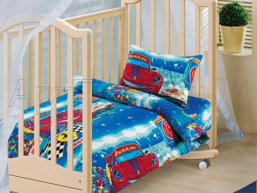 «Ралли» ясельное постельное белье бязь Детский