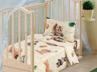 «Усатый-полосатый» ясельное постельное белье бязь Детский