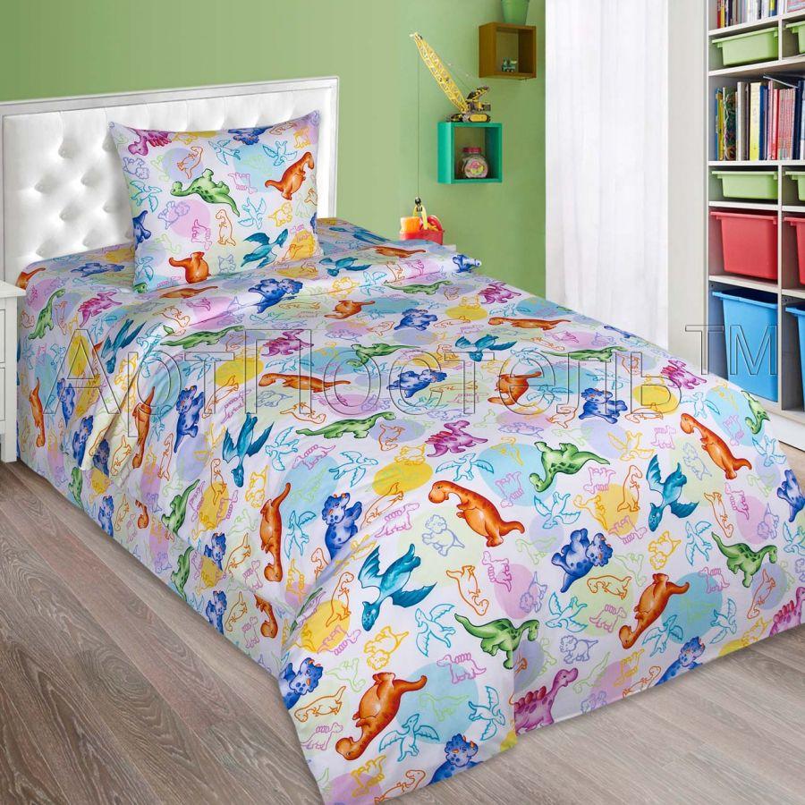 «Динозаврики» ясельное постельное белье поплин Детский