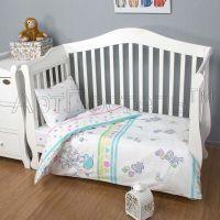 «Слоники» ясельное постельное белье поплин Детский