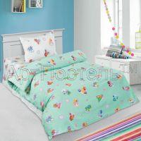 «Бусинка зеленая» ясельное постельное белье поплин Детский