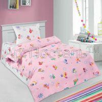 «Бусинка розовая» ясельное постельное белье поплин Детский