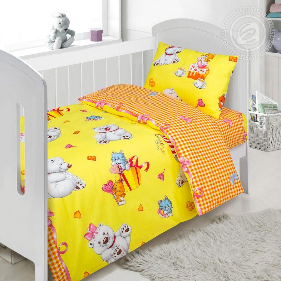 «День рождения» ясельное постельное белье поплин Детский