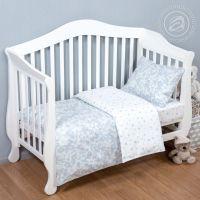 «Звездочет серый» ясельное постельное белье поплин Детский