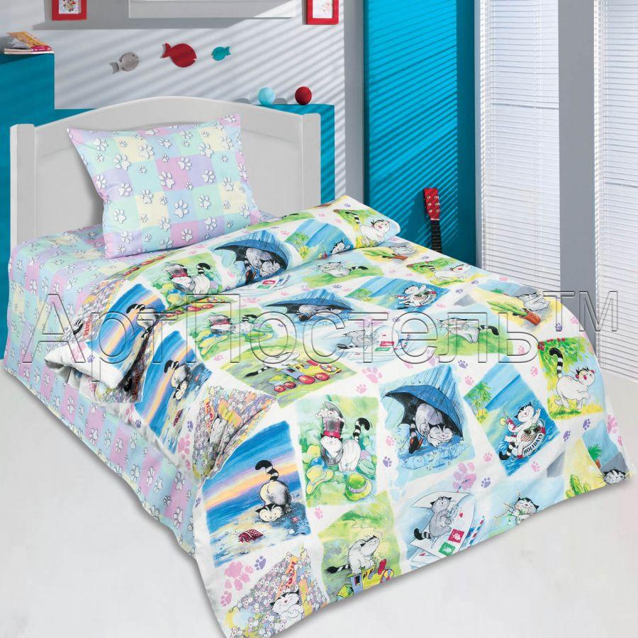 «Мурзик» ясельное постельное белье поплин Детский