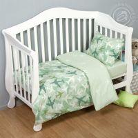«Самолетики зеленые» ясельное постельное белье поплин Детский