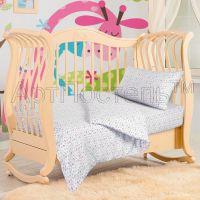 «Бабочки» ясельное постельное белье трикотаж Детский