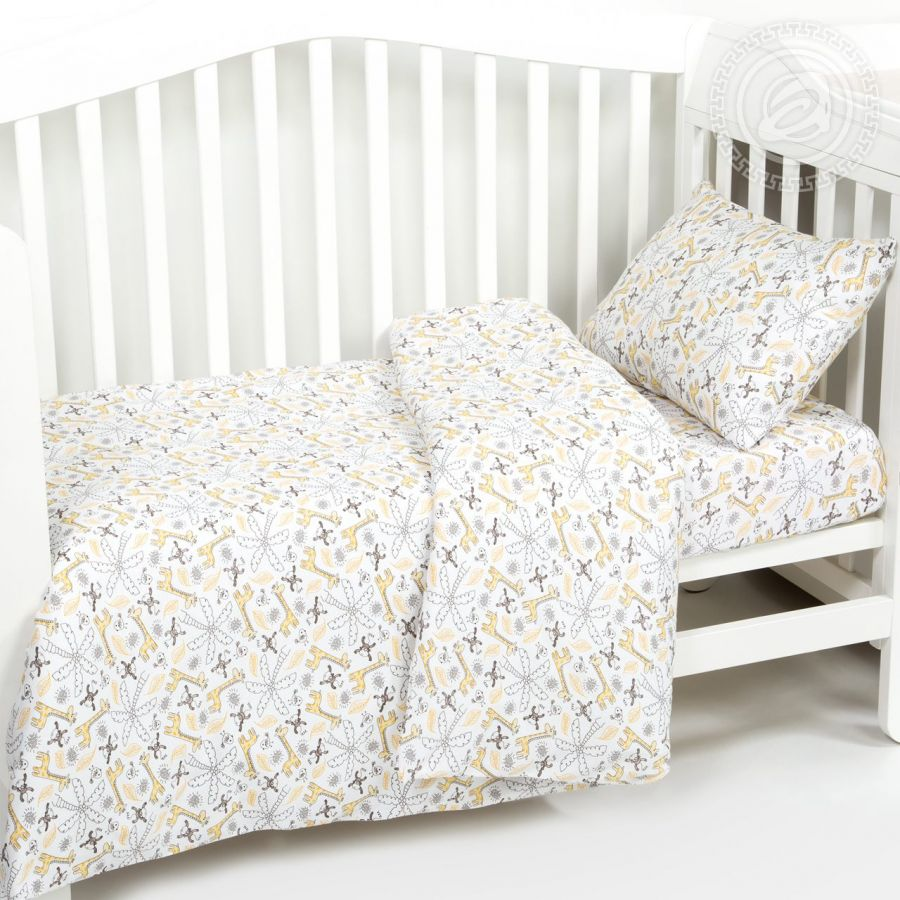 «Жирафчик» ясельное постельное белье трикотаж Детский