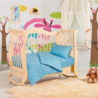«Зайка» ясельное постельное белье трикотаж Детский