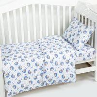 «Мишка на луне» ясельное постельное белье трикотаж Детский