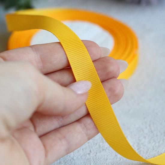 Репсовая лента декоративная - Светло-оранжевая 12 мм