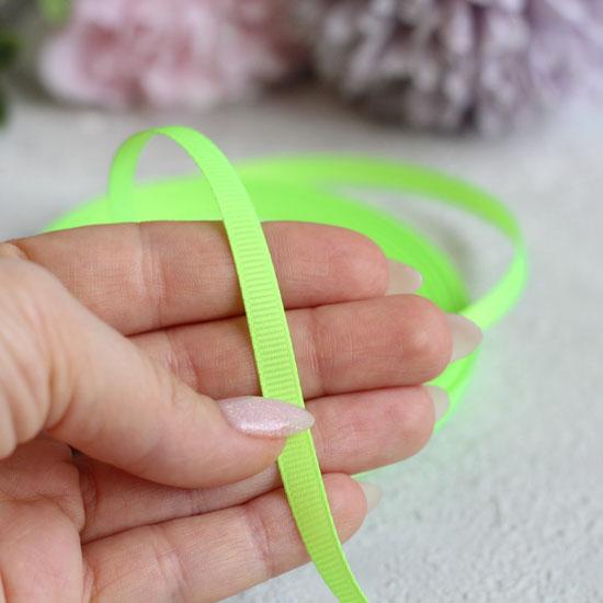 Репсовая лента декоративная - Салатовая 6 мм