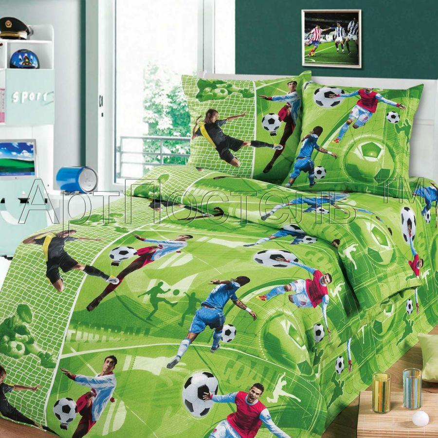 3D - «Форвард» постельное белье бязь 1.5 спальный