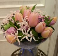 Букет с розовыми