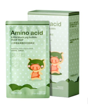 Очищающая пузырьковая маска  с аминокислотами «BIOAQUA» .(50750)