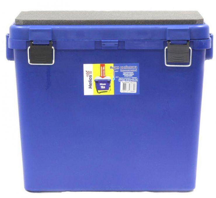 Ящик зимний HELIOS односекционный (Тонар) 19л синий