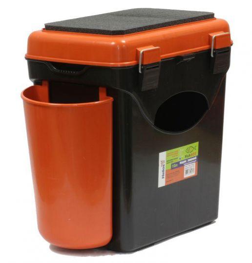 Ящик зимний односекционный HELIOS  (Тонар) 10л оранжевый
