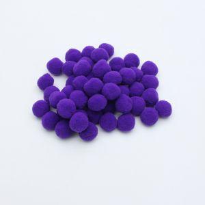 Помпоны, размер 25 мм, цвет 09 фиолетовый (1уп = 50шт)