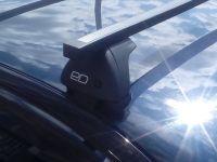 Багажник на крышу Lada Granta, Евродеталь, стальные прямоугольные дуги