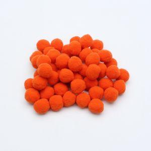 Помпоны, размер 25 мм, цвет 15 оранжевый (1уп = 50шт)