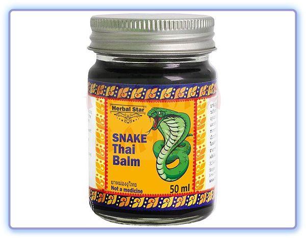 Бальзам для тела с королевской коброй Herbal Star Snake Thai Balm