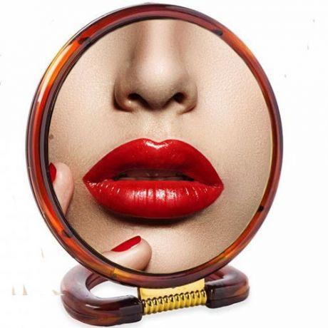 Круглое настольное двустороннее зеркало с увеличением Chic De Mirror