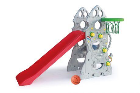 Горка Ching-Ching SL-18 Ракета + баскетбольное кольцо