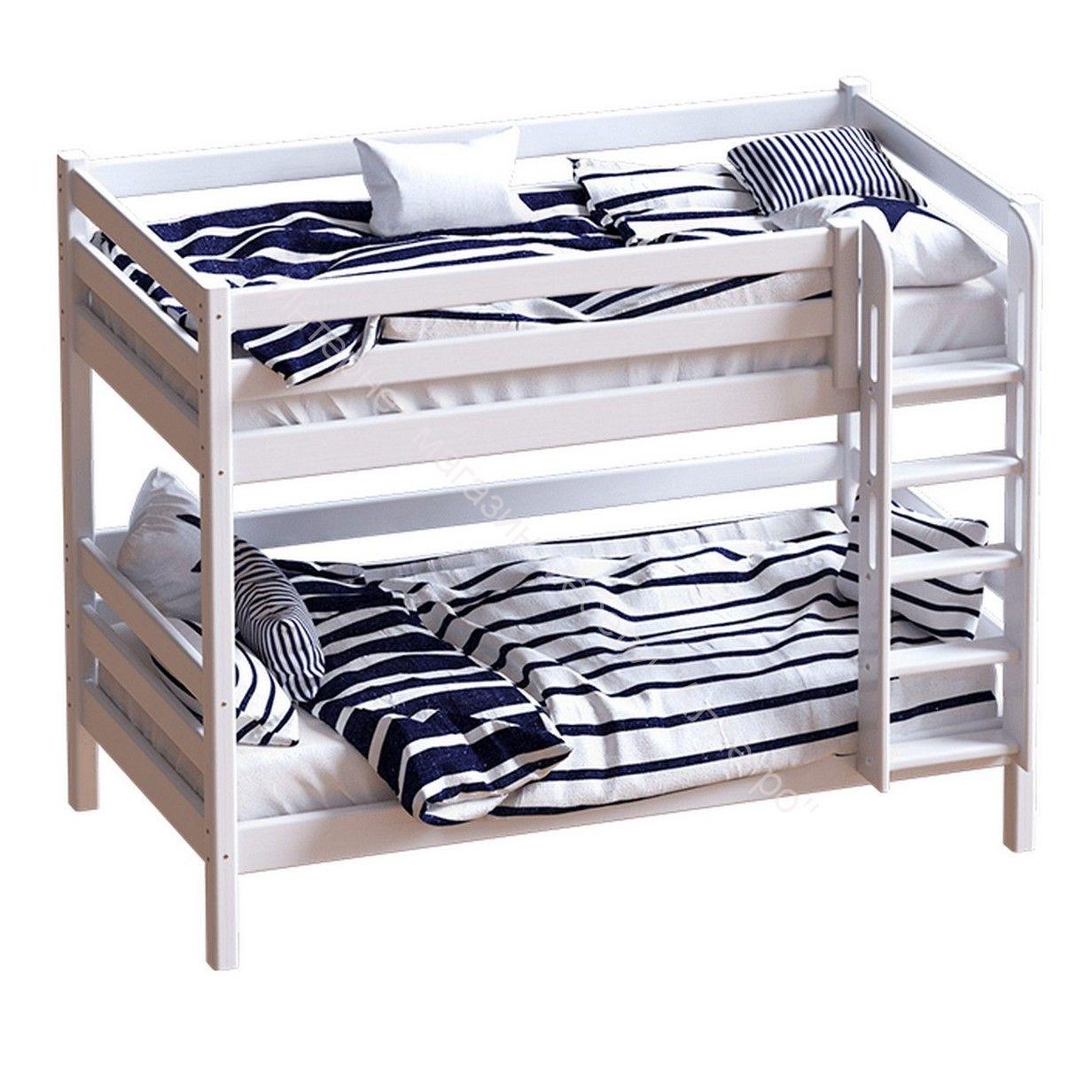 Авалон двухъярусная кровать  с прямой лестницей
