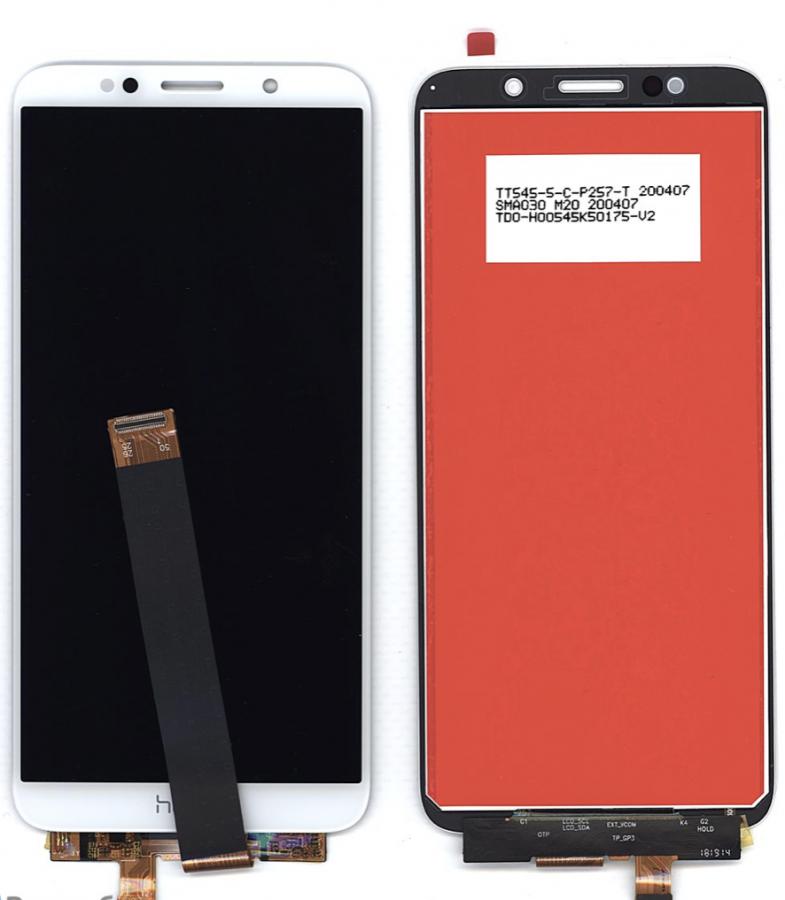 LCD (Дисплей) Huawei Honor 7A (DUA-L22)/Honor 7S (DRA-LX5)/Honor 9S (DUA-LX9)/Y5 Lite 2018 (CAG-L23)/Y5 Prime 2018 (DRA-LX2)/Y5p (DRA-LX9) (в сборе с тачскрином) (white) Оригинал