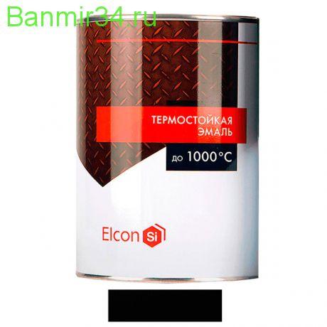 ELCON Эмаль жаростойкая Черная +1000 0,8кг черная
