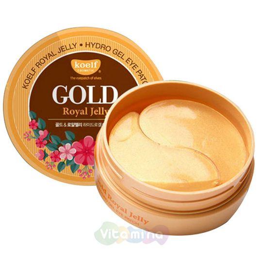 Koelf Гидрогелевые патчи с золотом и маточным молочком Gold & Royal Jelly Eye Patch