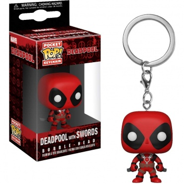 Брелок Funko Pocket POP! Keychain: Deadpool Playtime : Deadpool w/Sword 31735-PDQ